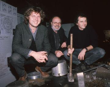 Karsten Bräuer mit Ingomar Kmentt (Wien) und Peter Hertel (Leipzig)