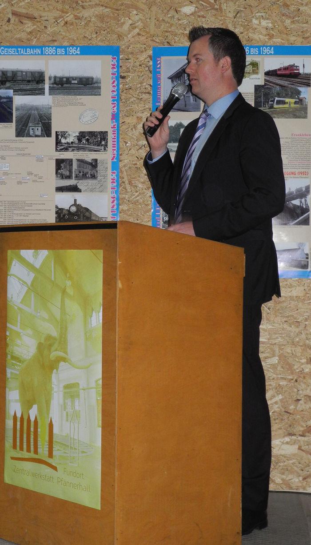 Bürgermeister Schmitz begrüßt die Bergleute