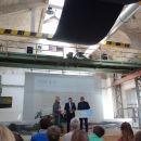 Eröffnung der Ausstellung zum Trassenbau der Bundesbahn in Mitteldeutschland