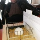 Modell zum Soziotop Geiseltal mit dem Bürgerforum im Zentrum